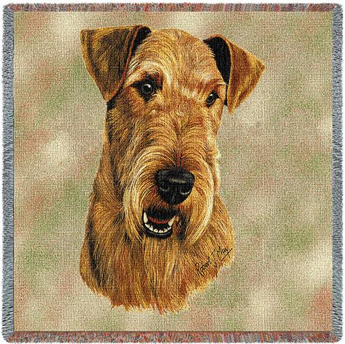 Airedale Terrier Tapestry Throw-0