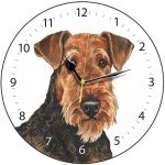 Airedale Terrier - Clock-0