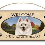 American Eskimo - Welcome Hanging Sign-0