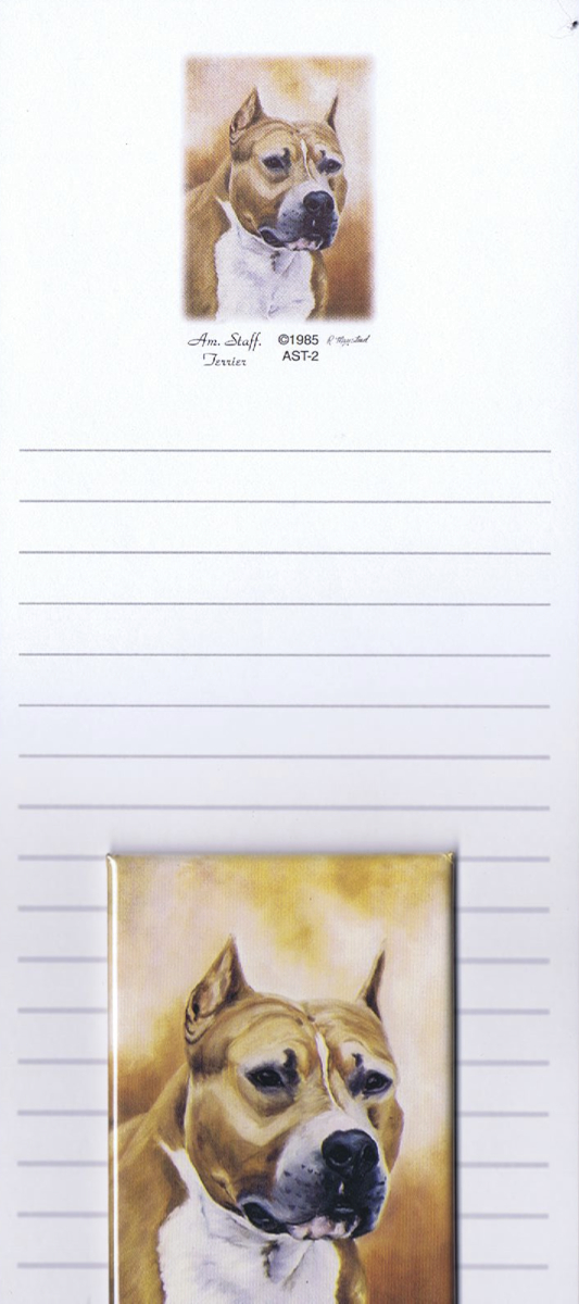 American Staffordshire Terrier – List Pad & Magnet Combo-0