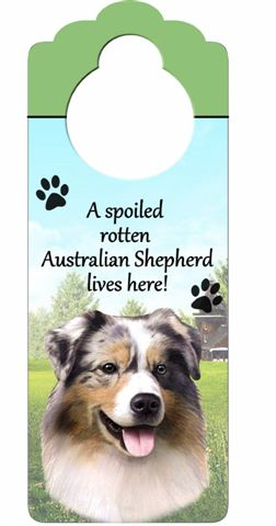 Australian Shepherd Door Knob Sign-0