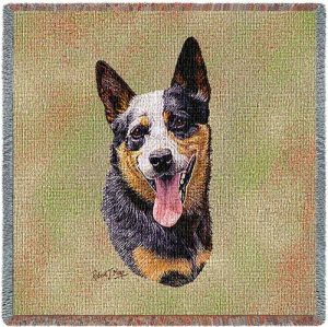 Australian Cattle Dog Tapestry Throw-0