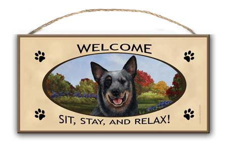 Australian Cattle Dog – Welcome Hanging Sign-0