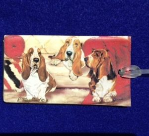 Basset Hound Luggage Bag Tag-0