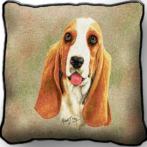 Basset Hound  – Tapestry Cushion Cover-0