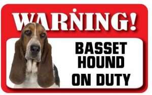 Basset Hound Warning Sign-0