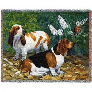 Bassett Hound Tapestry Throw-0