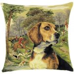 Beagle Tapestry Cushion Cover.-0