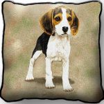 Beagle Pup Tapestry Cushion Cover-0