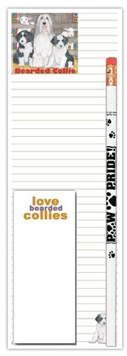 Bearded Collie Shopping Pad-0