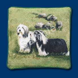 Bearded Collie - Woven Cushion Cover-0
