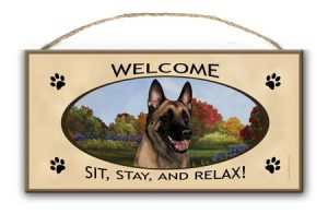 Belgian Malinois - Welcome Hanging Sign-0
