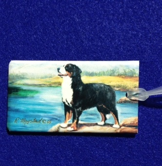 Bernese Mountain Dog Luggage Bag Tag-0