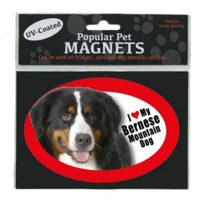 I Love My Bernese Mountain Dog - Oval Magnet-0