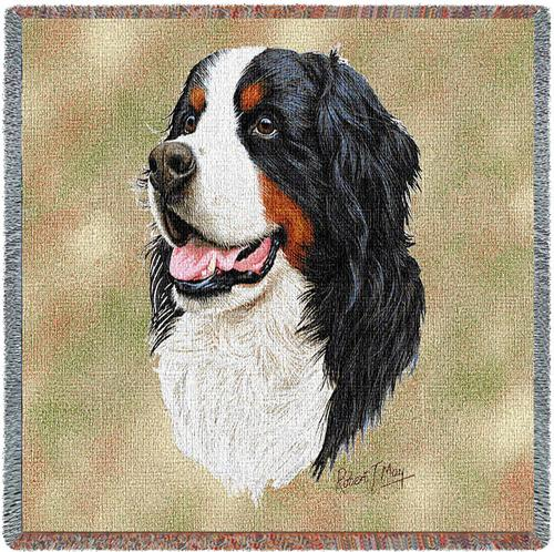 Bernese Mountain Dog Tapestry Throw-0