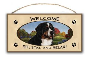 Bernese Mountain Dog - Welcome Hanging Sign-0