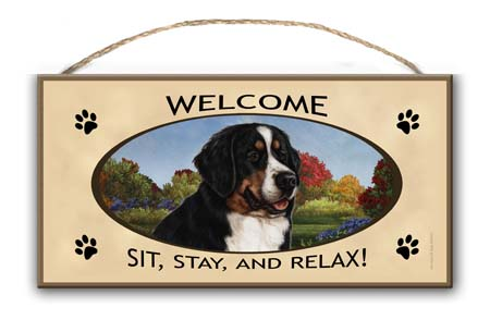 Bernese Mountain Dog – Welcome Hanging Sign-0