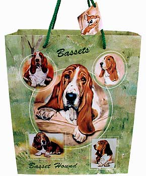 Basset Hound - Large Gift Bag-0