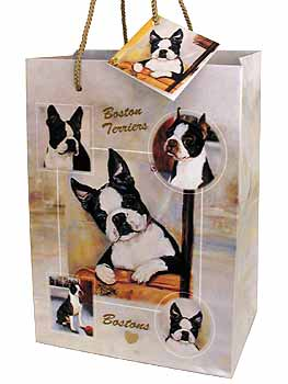 Boston Terrier- Small Gift Bag-0
