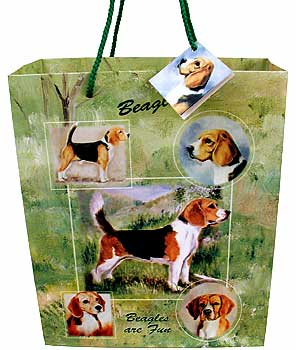 Beagle - Large Gift Bag-0