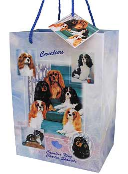 Cavalier King Charles Spaniels - Large Gift Bag-0