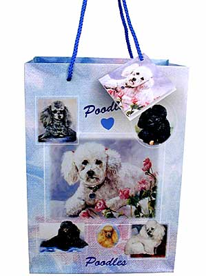 Poodles - Large Gift Bag-0