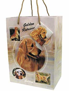 Golden Retriever - Small Gift Bag-0