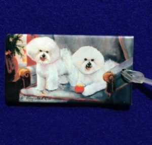 Bichon Frise Luggage Bag Tag-0