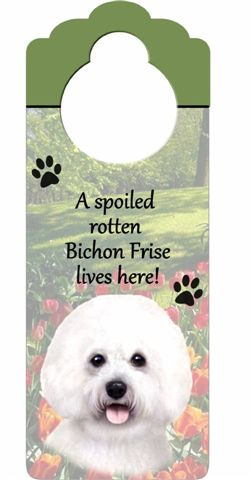 Bichon Frise Door Knob Sign-0