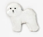 Bichon Frise Hand Painted Pin-0