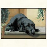 black labrador retriever doormat