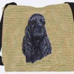 Black Cocker Spaniel Tote Bag -3501