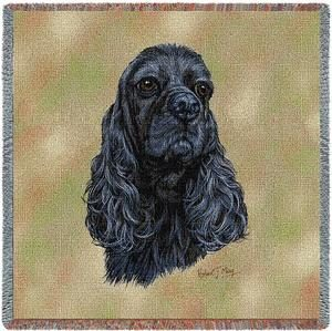 Cocker Spaniel Tapestry Throw-0