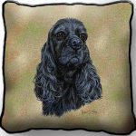 Black Cocker Spaniel – Tapestry Cushion Cover-0