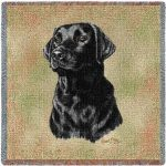 Labrador Retriever Tapestry Throw-0