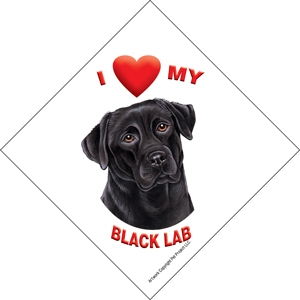 I (heart) my Black Labrador Suction Sign-0