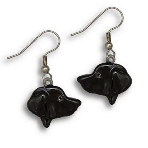 Enamel Black Labrador Earrings-0