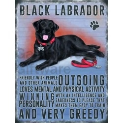 Labrador (black) - Hanging Metal Sign-0