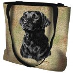 Black Labrador Tote Bag -0