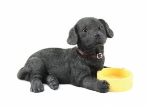 Black Labrador with Bowl Figurine-0