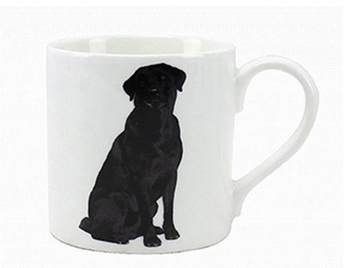Black Labrador – Fine China Mug-0