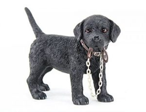 Black Labrador Walkies Figurine-0