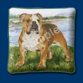Bulldog - Woven Cushion Cover-0