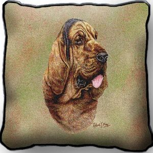 Bloodhound Tapestry Cushion Cover-0
