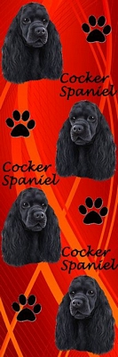 3D Cocker Spaniel Bookmark-0