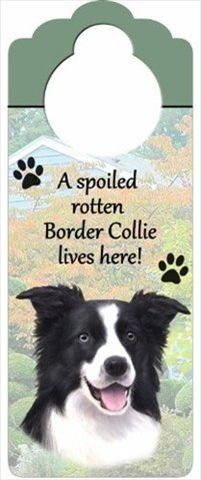 Border Collie Door Knob Sign-0