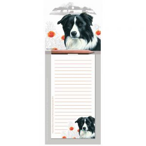 Border Collie Magnetic Memo Pad-0