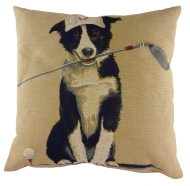 Sporting Border Collie Tapestry Cushion Cover-0