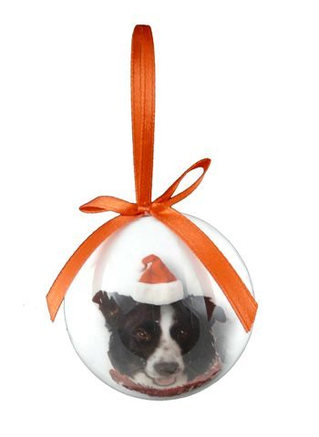 Border Collie Christmas Bauble-0