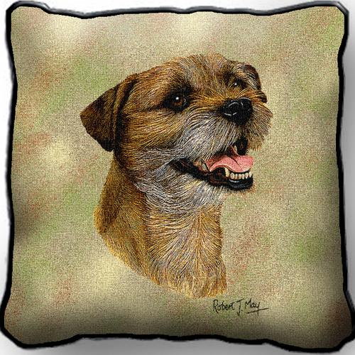 Border Terrier 2 Tapestry Cushion Cover-0